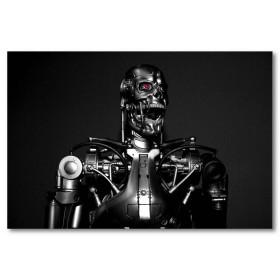 Αφίσα (μαύρο, λευκό, άσπρο, ρομπότ, κόκκινος, μάτι)